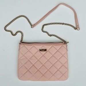 Kate Spade pink quilted crossbdy Calfskin